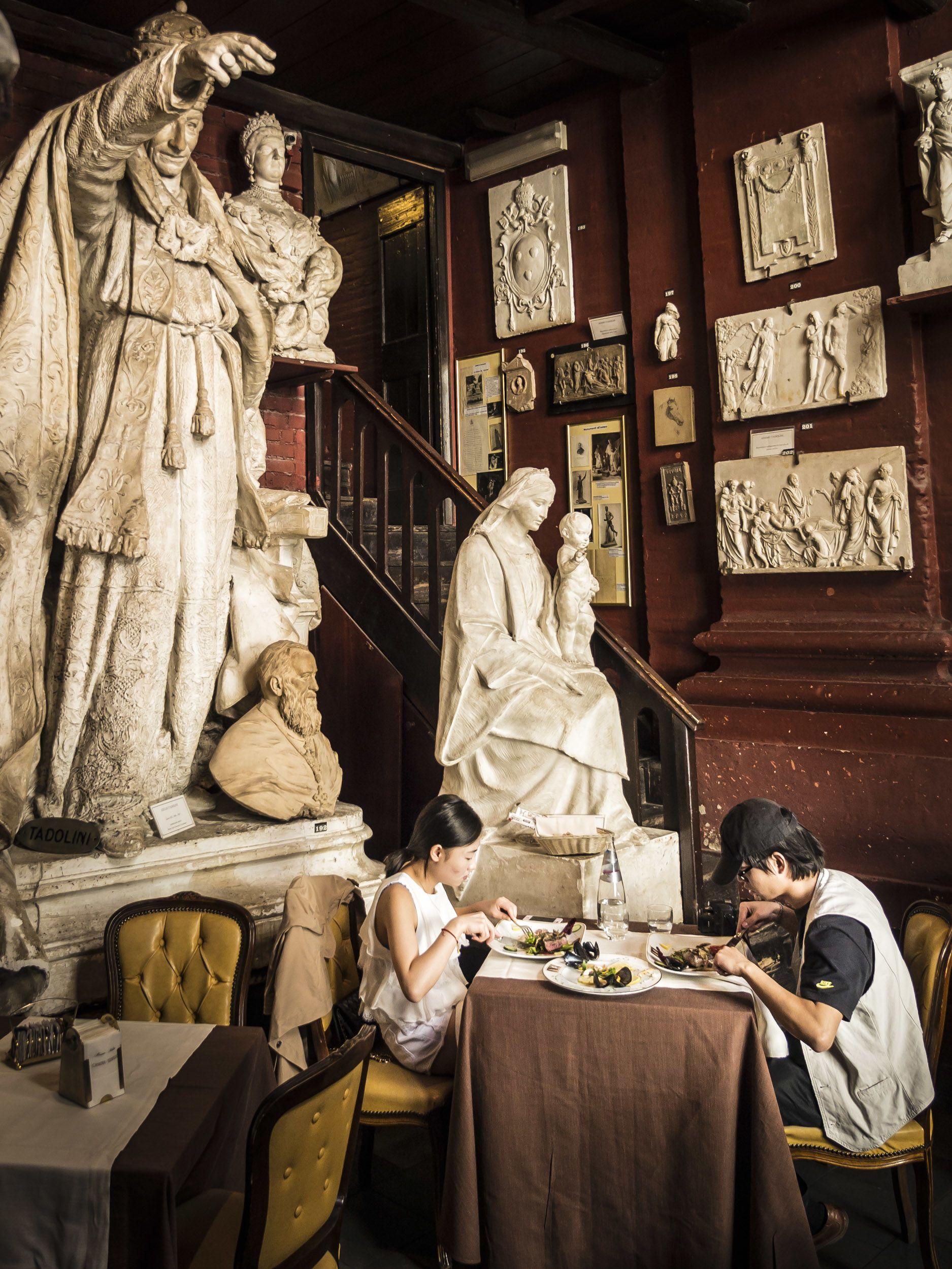 Im Ristorante Museo Canova Tadolini speist es sich wie in einem Künstleratelier